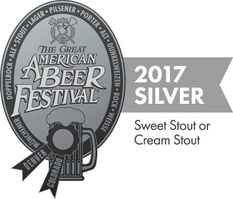 2017 GABF Silver Medal for Milk Bone Sweet Stout